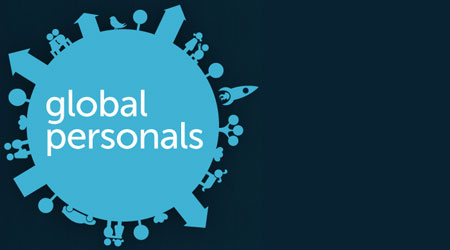 A screenshot of the Global Personals logo