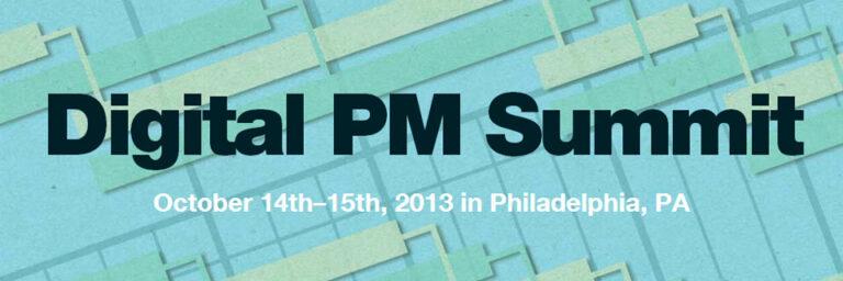 The Digital PM Summit banner.