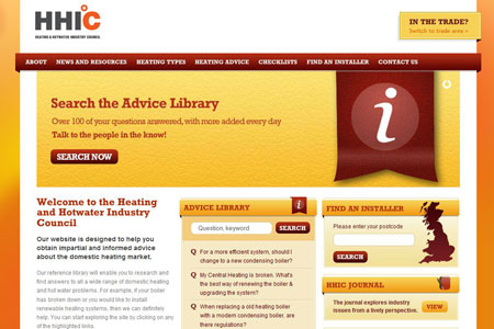 A screenshot of the HHIC website homepage