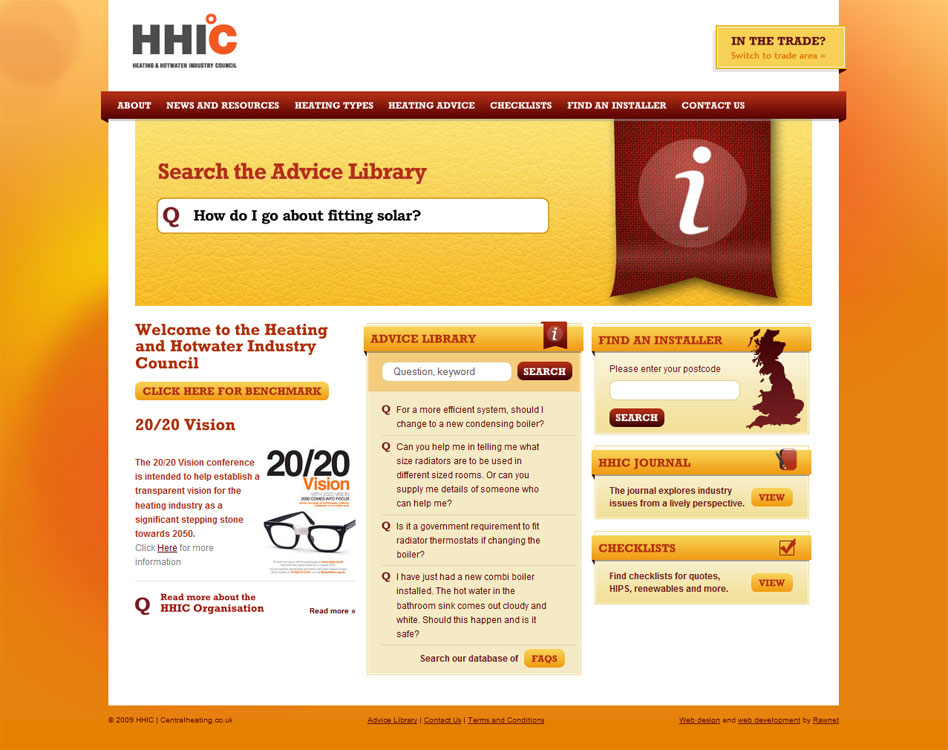 HHIC Website management