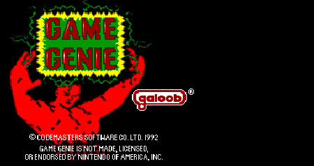 A picture of the old Game Genie loading screen popular in the 1980's
