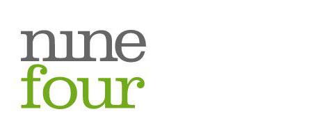 A screenshot of the Nine Four logo