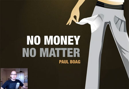 A screenshot of the first slide of Paul Boag's No Money, No Matter presentation