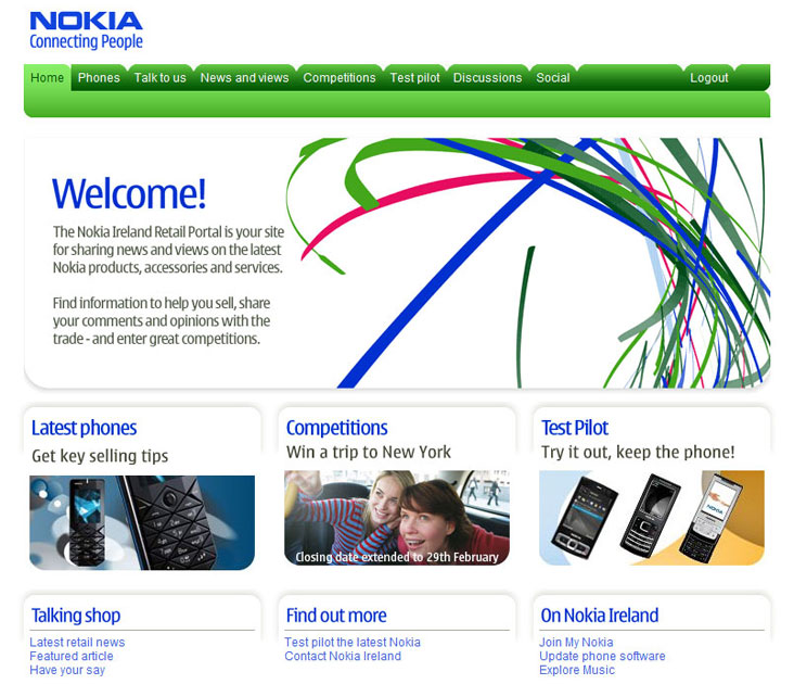 Web project management of PHP-based system for Nokia Ireland.