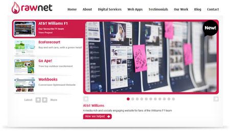 A screenshot of the Rawnet website homepage