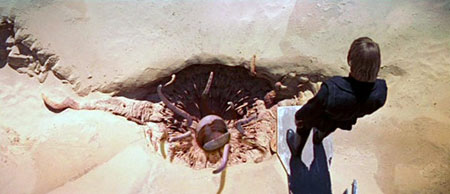 Return of the Jedi still image, Luke peering into the Sarlacc Pit