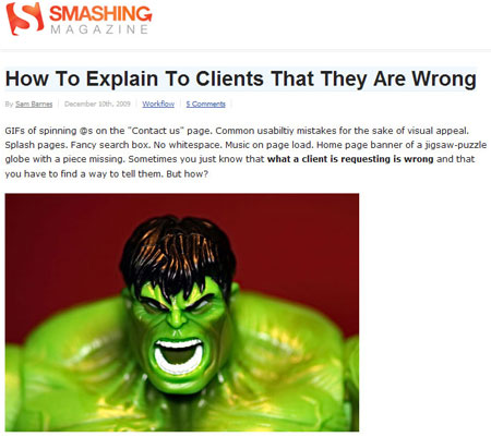 A screenshot of my latest article on Smashing Magazine