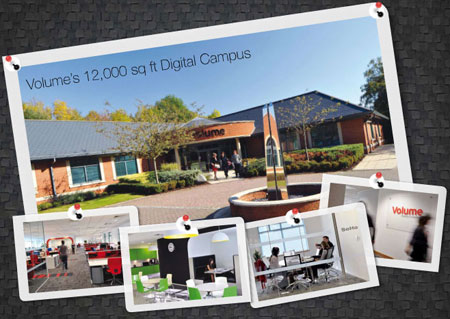 A picture of the Volume Digital Campus offices