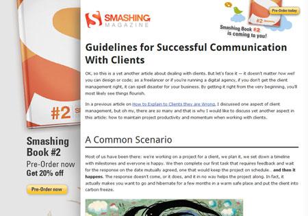 A screenshot of my latest Smashing Magazine article