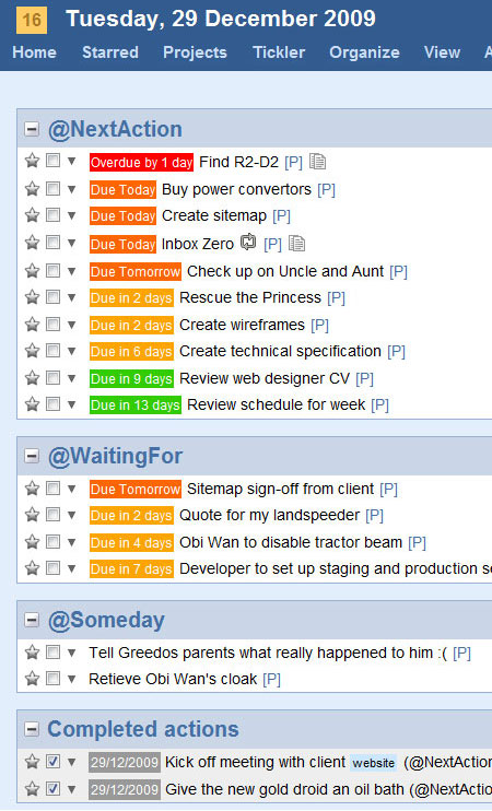 A screenshot of the GTDify Dashboard Add Task UI