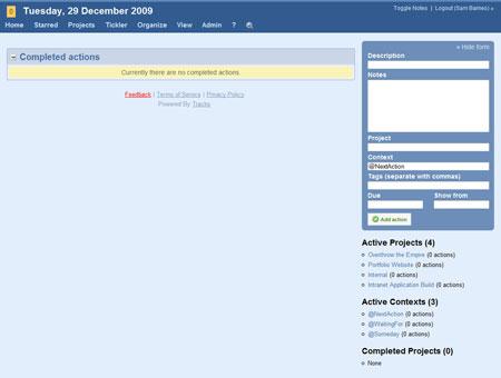 A screenshot of the GTDify Dashboard full UI