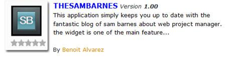 A screenshot of the Sam Barnes Google Android application listing
