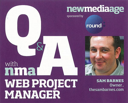 A screenshot of my NMA interview showing a picture of me and the heading explaining this is an NMA Q and A with a Web Project Manager